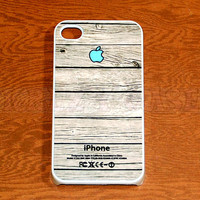 iphone 4 Case, iPhone 4s case Wood Texture with Apple Logo iPhone 4 Cases, Iphone 4s Cover,Case for iPhone 4
