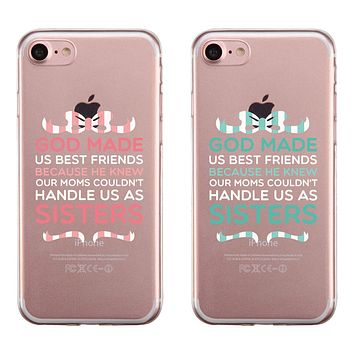 God Made Us BFF Matching Phone Covers Thoughtful Sister/Friend Gift