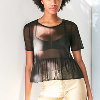 Cooperative Posie Mesh Babydoll Tee - Urban Outfitters