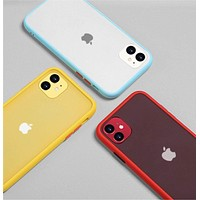 Luxury Shock Proof Solid Color Silicone Phone Case For iphone 11 pro x xr xs max 7 8 plus