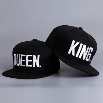 Fashion KING QUEEN Hip Hop Baseball Caps Embroider Letter Couples Lovers Adjustable Snapback Sun Hats for Men Women NQ981562