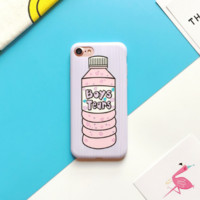 Pink bottle Phone Case Cover for Apple iPhone 7 7 Plus 5S 5 SE 6 6S 6 Plus 6S Plus + Nice gift box! LJ160914-001