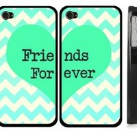 Best Friends iphone 4 Case - Set of Two Friends Forever iPhone 4s Case / Cover