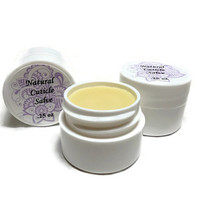 Natural Cuticle Salve, Lavender and Tea Tree Oil Cuticle Balm, Gift under 5
