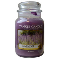 YANKEE CANDLE by  LAVENDER SCENTED LARGE JAR 22 OZ