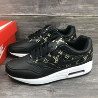 Louis Vuitton x Nike Air Max 1 Custom Running Sneakers Sport Shoes Tagre™