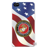 Premium Direct Print United States Marine Corps American Flag iphone 6 Quality Hard Snap On Case for iphone 6/Apple iphone 6 - AT&T Sprint Verizon - White Case PLUS Bonus RCGRafix The Best Iphone Business Productivity Apps Review Guide