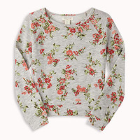 French Terry Floral Pullover