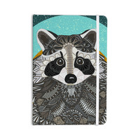 "Art Love Passion ""Racoon in Grass"" Gray Teal Everything Notebook"