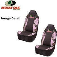Mossy Oak Infinity Pink Camo Print Car Truck SUV Front Universal-Fit Bucket Seat Covers - PAIR