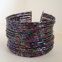 """Hippy Beaded 2"""" Wide Arm Band"""