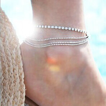 Fashion Gold Chain Anklet Foot Ankle Women Lady Jewelry Elegant = 4473161796