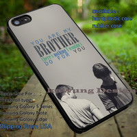 Supernatural Dean Sam Winchester with Quote iPhone 6s 6 6s+ 5c 5s Cases Samsung Galaxy s5 s6 Edge+ NOTE 5 4 3 #movie #supernatural #superwholock #sherlock #doctorWho dt