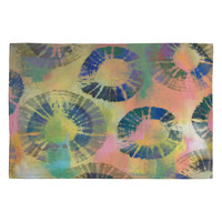 Natalie Baca Painterly Tie Dye Circles Woven Rug