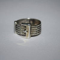 Size 5.5 Beautiful Sterling Silver Sassy Belt Ring Free US Shipping