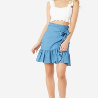 Wrapped Up Ruffle Skirt