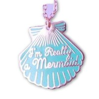 """Cotton Candy """"I'm Really A Mermaid"""" Necklace"""