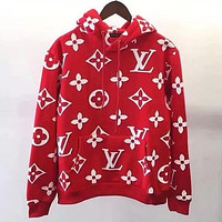 LV Louis Vuitton Hooded Women Fashion Top Sweater Hoodie Sweatshirt