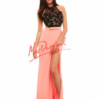 Mac Duggal Lace and Jersey Prom Dress 62068A