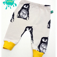 Penguin baby leggings, Baby clothes, baby leggings, organic baby clothes, unisex baby, baby trousers, baby pants, christmas baby