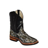 Western Boots Womens Cowgirl Cool Lace Black Silver 62793-34