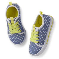 carter's chambray print sneakers