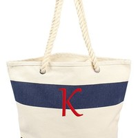 Cathy's Concepts Personalized Stripe Canvas Tote