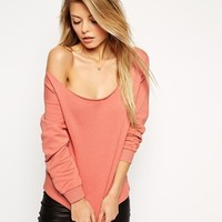 ASOS Sweatshirt with Off Shoulder Detail