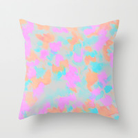 Confetti bloom  Throw Pillow by Lauren Lee Designs