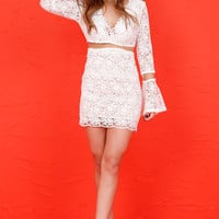 Summer Lace Dress - White