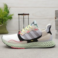 adidas ZX 4000 4D Red One Core Black-Bright Cyan Running Shoes