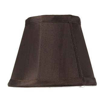 """5""""W x 4""""H Chandelier Chocolate Bavarian Fabric Clip-On Lampshade"""