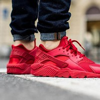Nike Air Huarache Run Fashion Sport Shoes Sneakers Shoes red