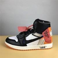 Air Jordan 1 Retro white black  36-47