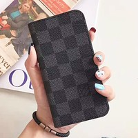 Louis Vuitton LV Fashion Tartan Phone Cover Case For iphone 6 6s 6plus 6s-plus 7 7plus 8 8plus iPhone X XS XS Max XR Black