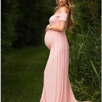 Maternity Photography Props Pregnancy Clothes Maxi Maternity photography Dress Cotton Maternity Dress For photography Props