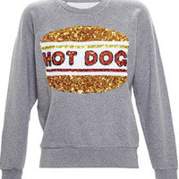 Grey Long Sleeve Sequined Sweatshirt