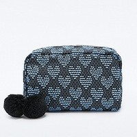 Deena & Ozzy Heart Tapestry Cosmetics Case in Blue - Urban Outfitters