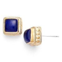 Women's Anna Beck Square Stone Stud Earrings - Gold/