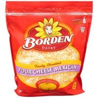 Borden Finely Shredded Four Cheese Mexican Cheese, 32 oz - Walmart.com