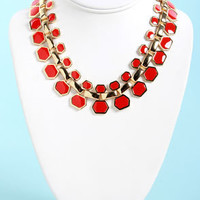 Collar Me Crazy Coral Red Necklace