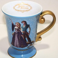Licensed cool Disney Store Designer FAIRYTALE COUPLE Ceramic Mug Cup DFDC Rapunzel Flynn Rider