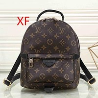 Perfect Louis Vuitton LV Women Men Leather Backpack Satchel SchoolBag