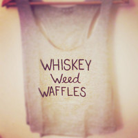 Whiskey Weed Waffles Racerback Tank