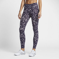 The Nike Power Legendary Women's Printed Mid Rise Training Tights.