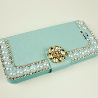 Floral phone wallet iphone 4s case iphone 5s cover phone case iphone 4 leather case 5c flip iphone 5 leather case samsung note 2 3 case