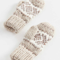 Intarsia Knit Mitten | Urban Outfitters