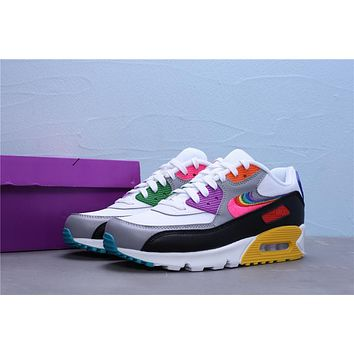 """Nike Air Max 90 """"BETRUE"""" White/Multi Color-Black-Wolf Grey"""