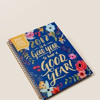 2017 is a good year floral large spiral planner