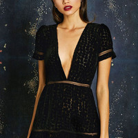 Stone Cold Fox || Virgo dress in black velvet